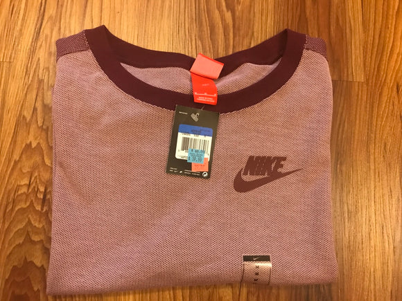 Nike Plum Cropped Shirt - Medium