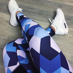 Blue Camo Sports Leggings - Yoga Leggings - Yoga Pants Distro - Best Discount Yoga Pants