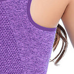 Women Zipper Sports Bra Vest