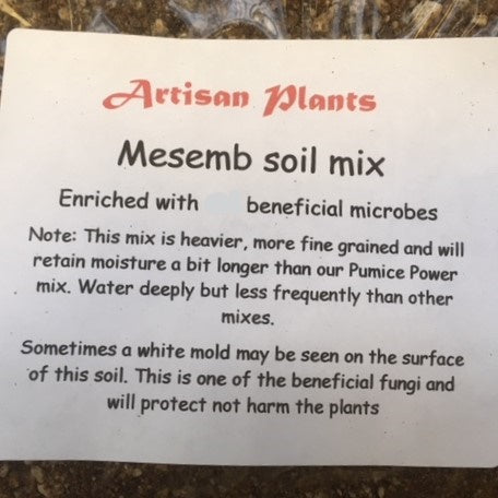 Mesemb Mix. Specialty soil designed  for Lithops and their relatives soil trail size (1 gallon bag)