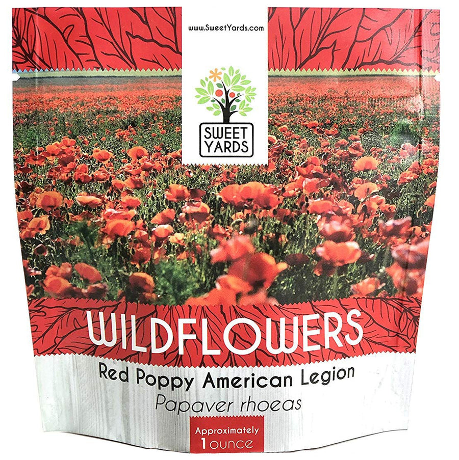 Red Corn Poppy Wildflower Seed Mix