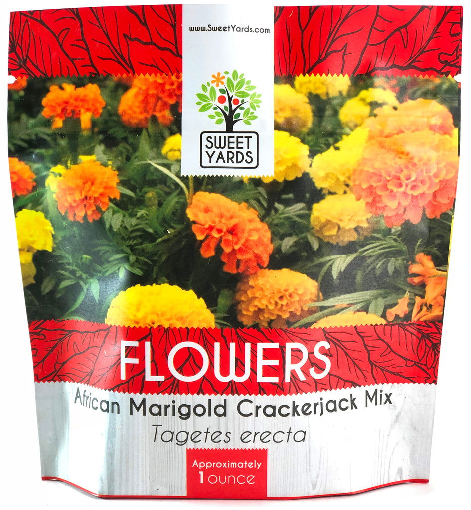 African Marigold Crackerjack Mix