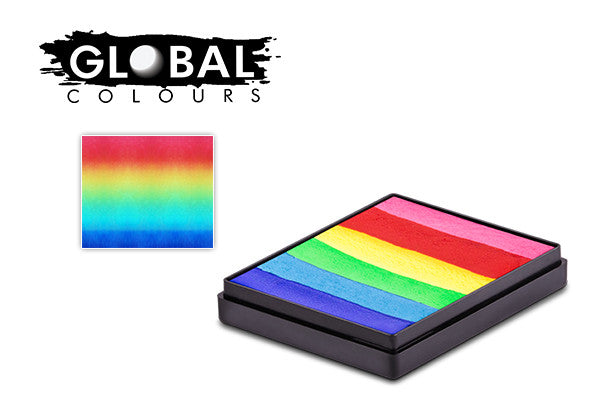 Global Colours Rainbow Bright Cake Regular 50g