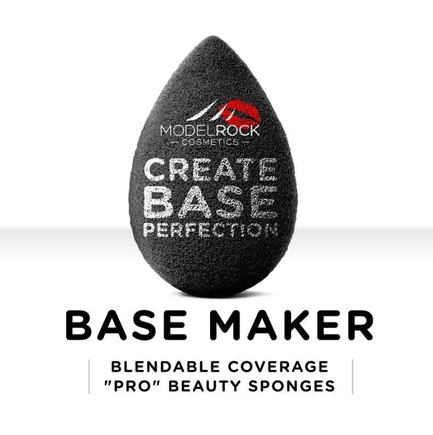 "BASE MAKER - Blendable Coverage ""Pro"" Beauty Sponge 1pk (BLACK)"