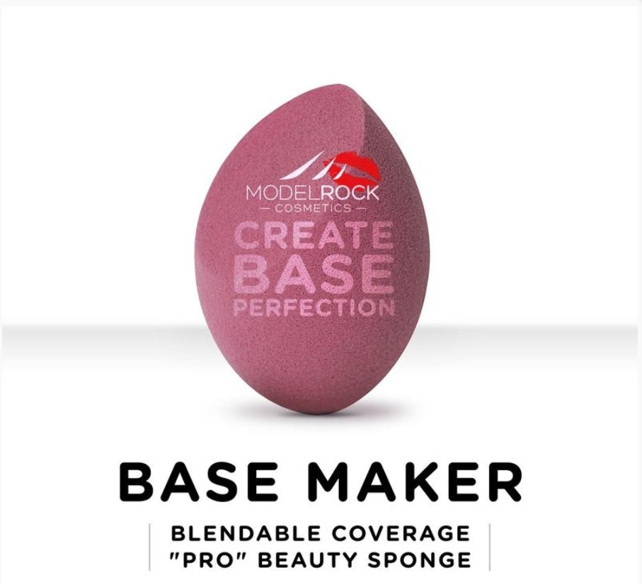 "BASE MAKER - Blendable Coverage ""Pro"" Beauty Sponge 1pk (DARK PINK WEDGE)"