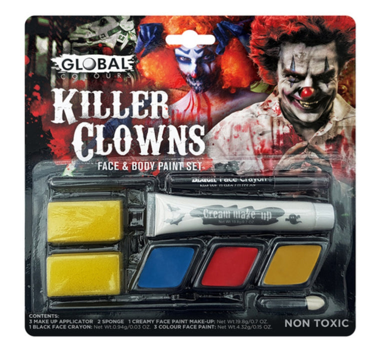 Global Colours Killer Clown Makeup Kit