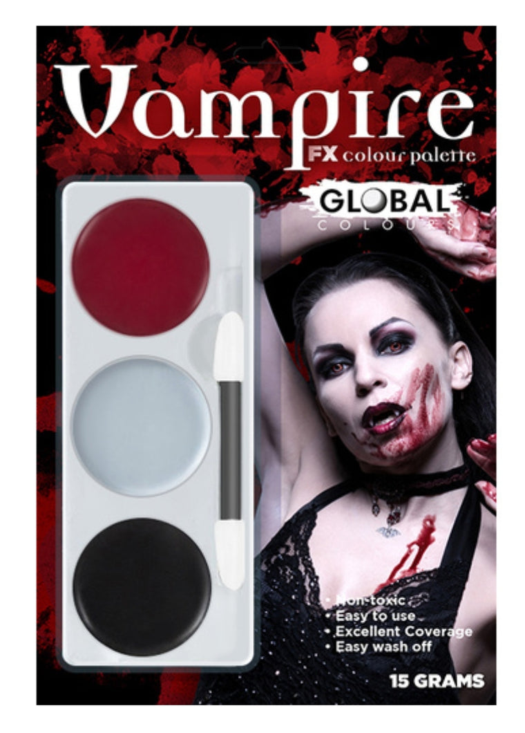 Global Colours Vampire FX Colour Palette Face Paint Halloween
