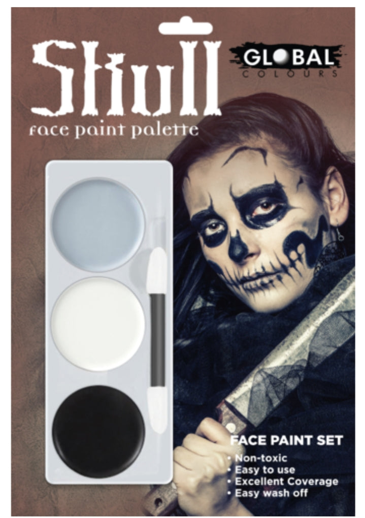 Global Colours Skull FX Colour Palette Face Paint Halloween