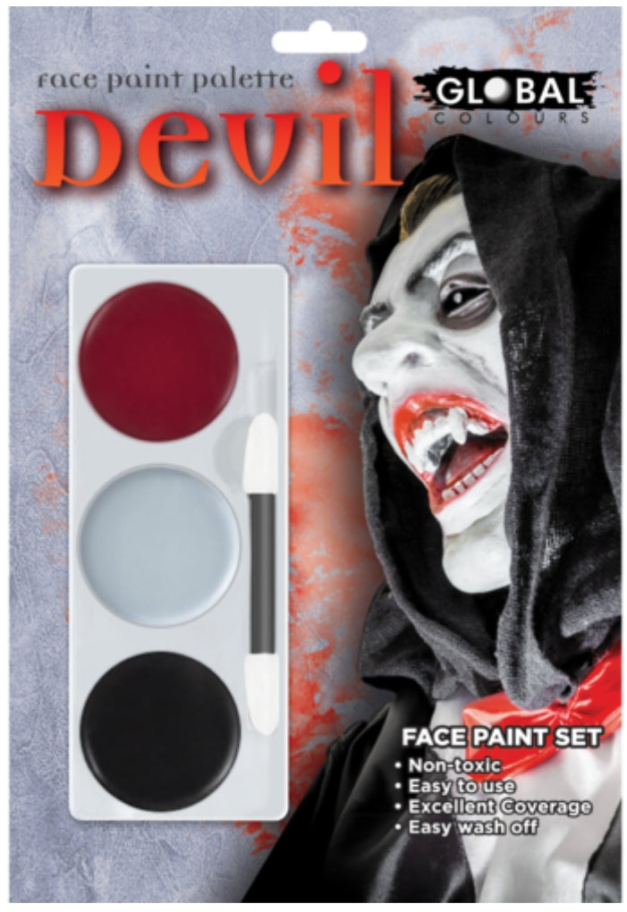 Global Colours Devil FX Colour Palette Face Paint Halloween
