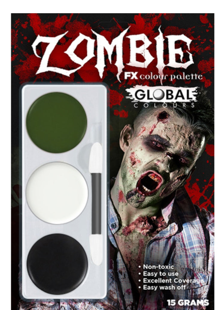 Global Colours Zombie FX Colour Palette Face Paint Halloween