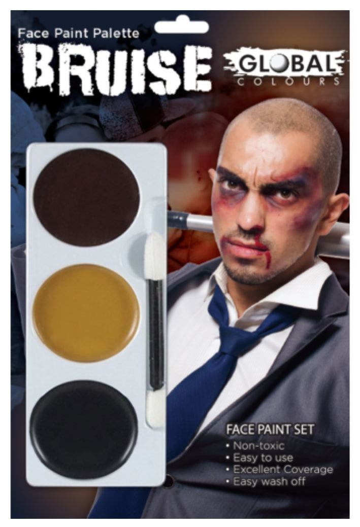 Global Colours Bruise FX Colour Palette Face Paint Halloween