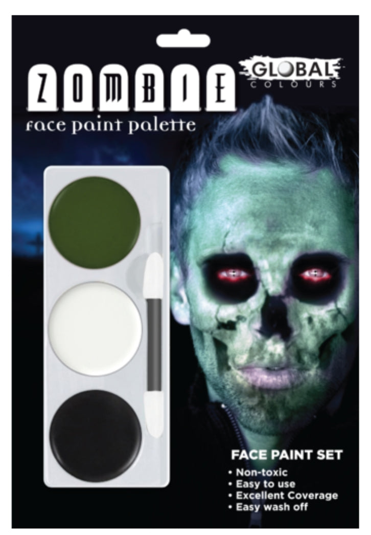 Global Colours Zombie (Green) FX Colour Palette Face Paint Halloween