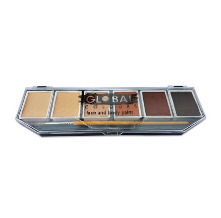 Global Colours Skin Tone Face & Body Paint Palette