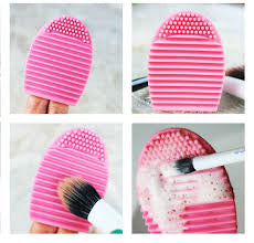 Small Makeup Brush Cleaning Egg - Light Pink