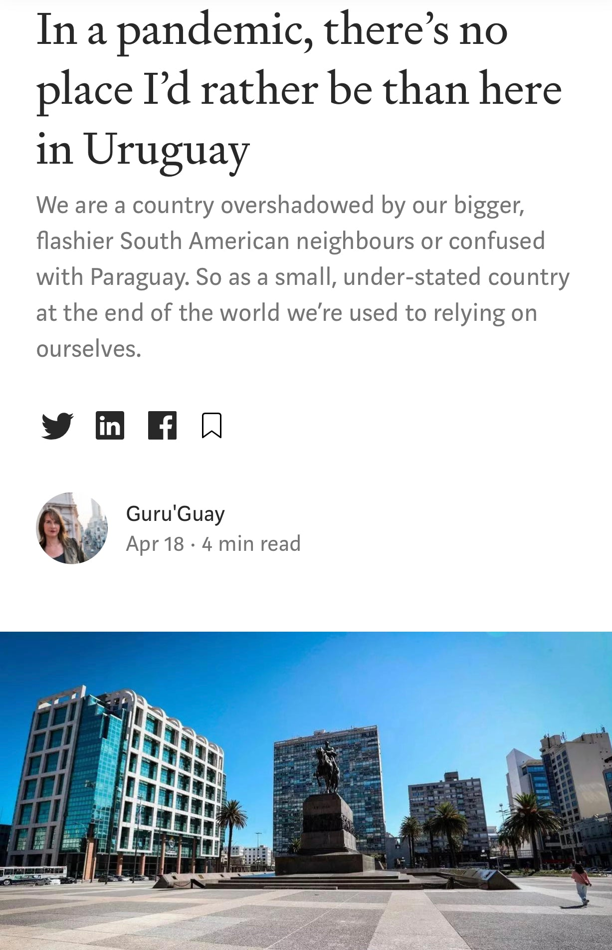 URUGUAY - An educated citizenry is a vital requisite for our survival as a free people.