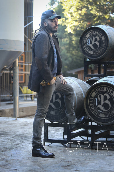 Black leather boots for men - CAPITA
