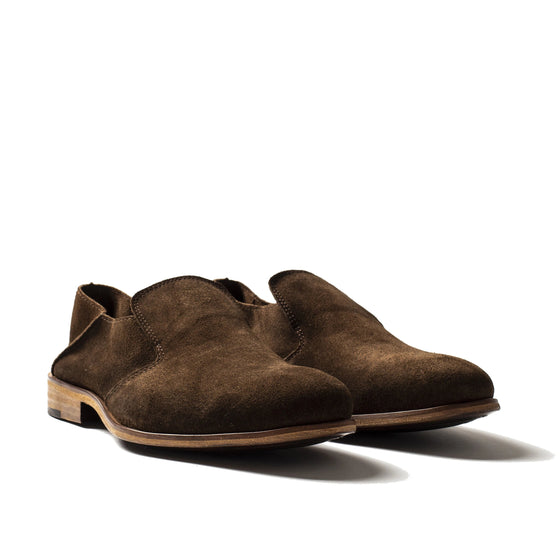 Saxon Brown - suede leader shoes