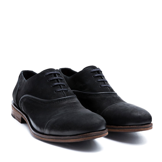 Ox. Nero - nobuk leather shoes