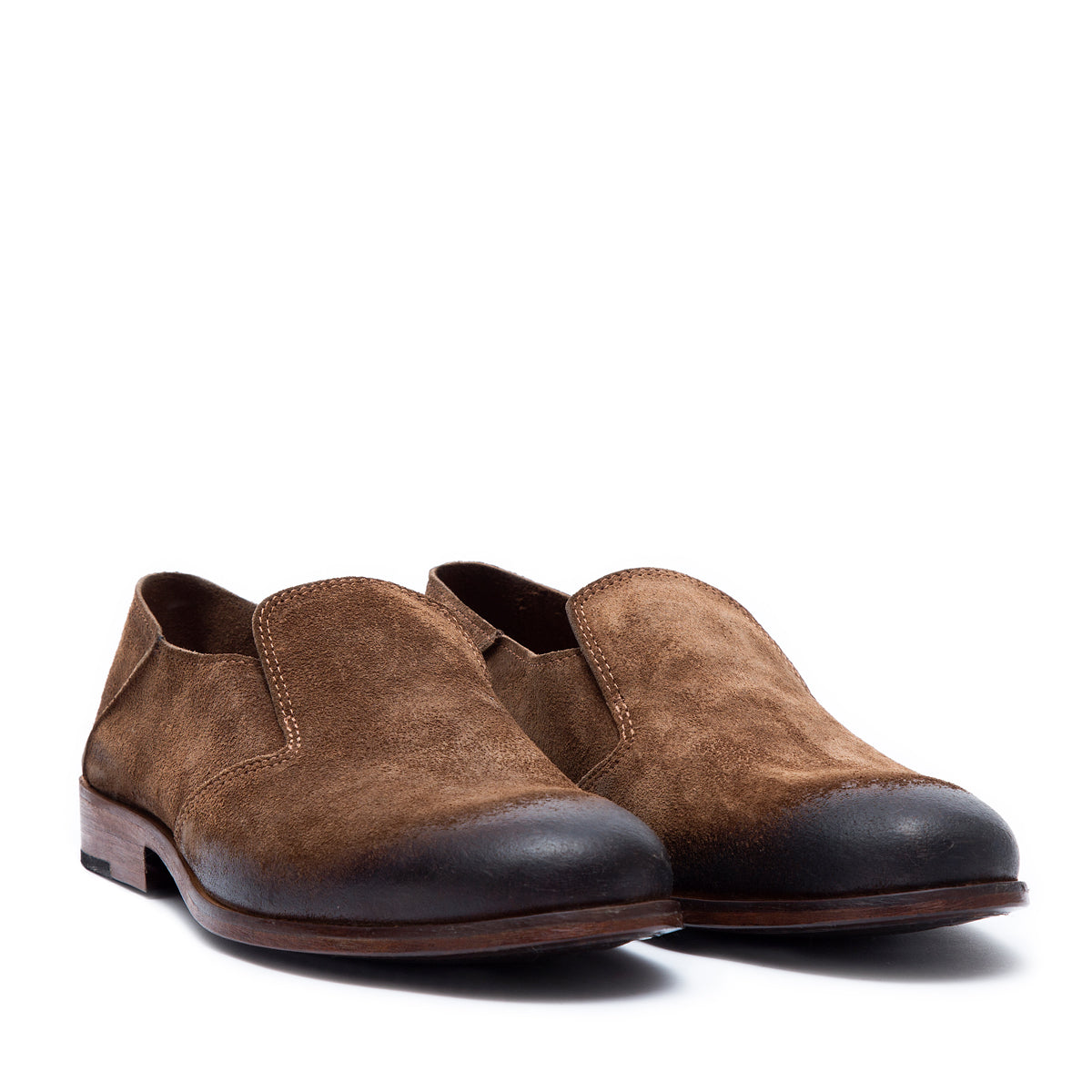 Saxon Habano - suede leather shoes