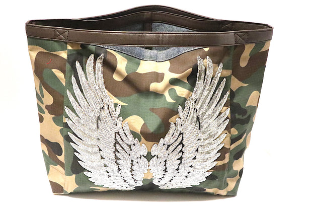 "TOTE Bag ""Angel Silver Wings"" Camo"
