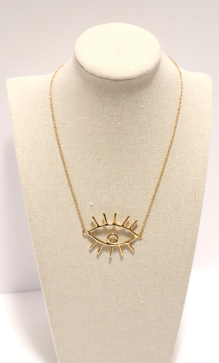 Evil Eye Gold Plated Necklace