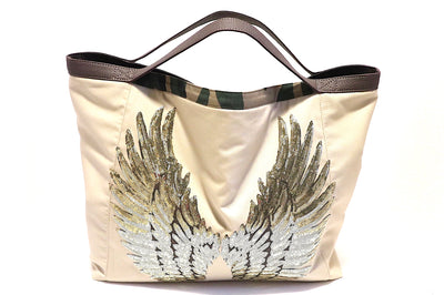 "TOTE Bag ""Angel Wings"" BEIGE"
