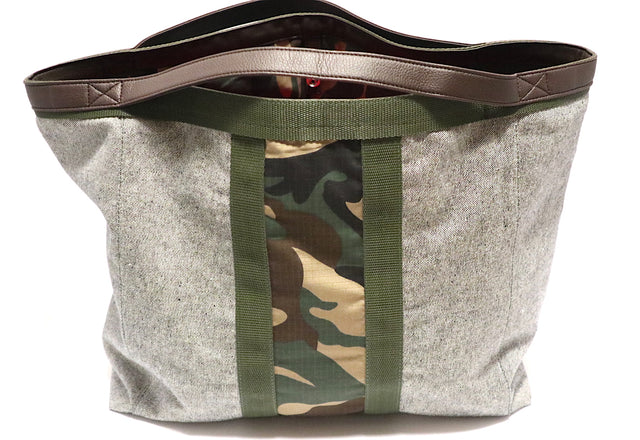 Camo Tote Bag Grey Denim