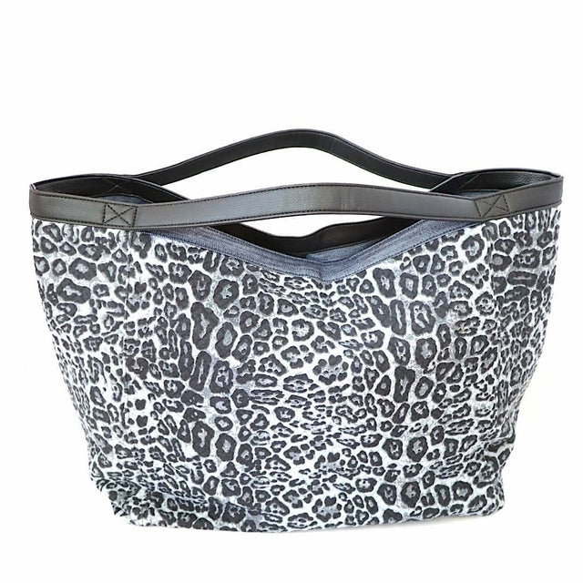 Blue Leopard Print Tote Bag