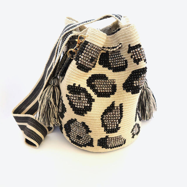 Wayuu Crossbody Crystals Animal Print