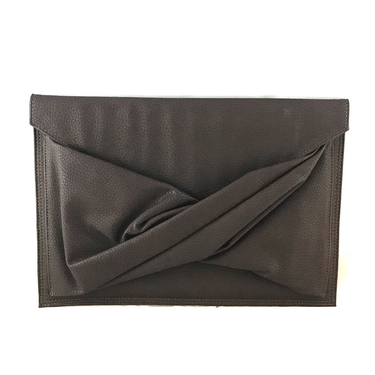 Envelope Dark  Brown Leather Clutch-Sale
