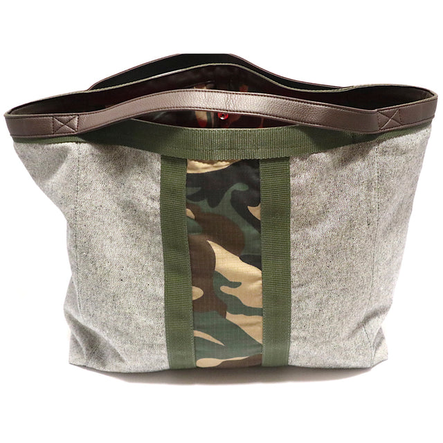 Camo Tote Bag Grey Denim-Sale