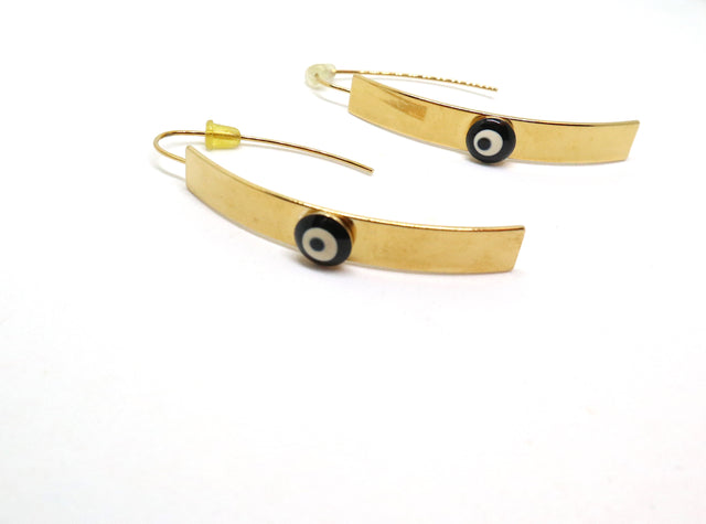 Gold Plated Evil Eye Earrings