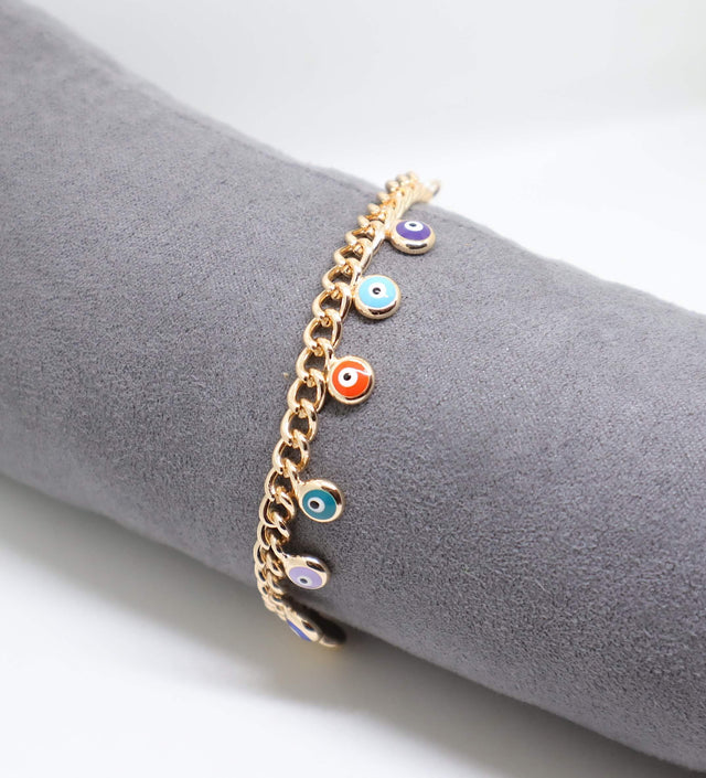 Evil Eye Multi Chain Bracelet