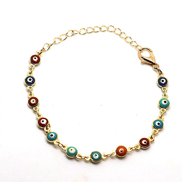 Gold Evil Eye Multicolored Bracelet