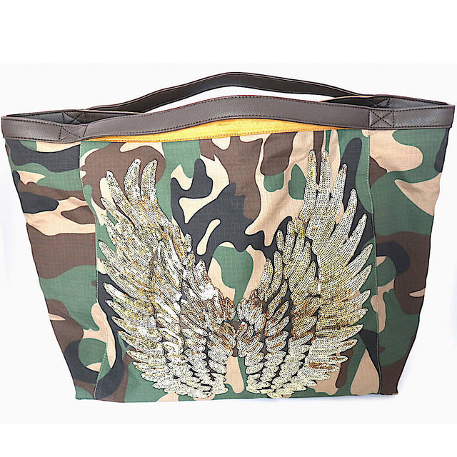 "TOTE Bag ""Angel Gold Wings"" Camo"