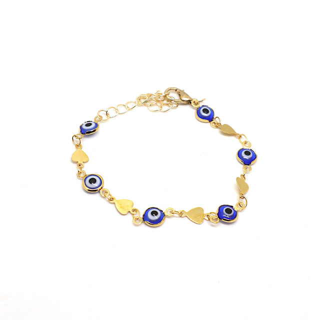 Evil Eye Heart Chain Bracelet