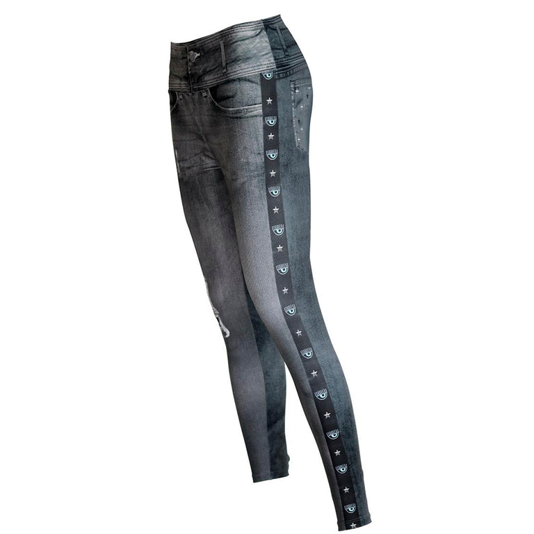 Leggings Grey Evil Eye
