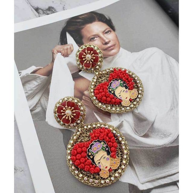 Frida Khalo Earrings Boho Style