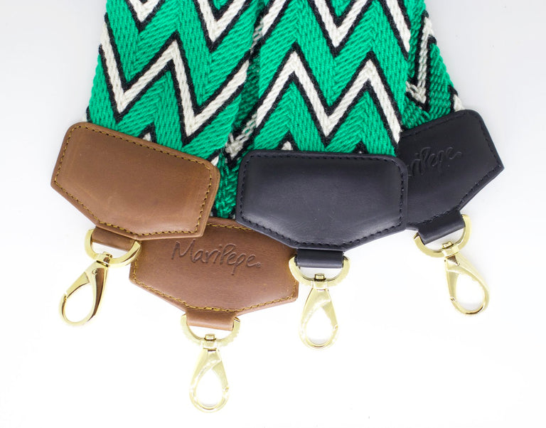 Ethnic Wayuu Strap Green Black