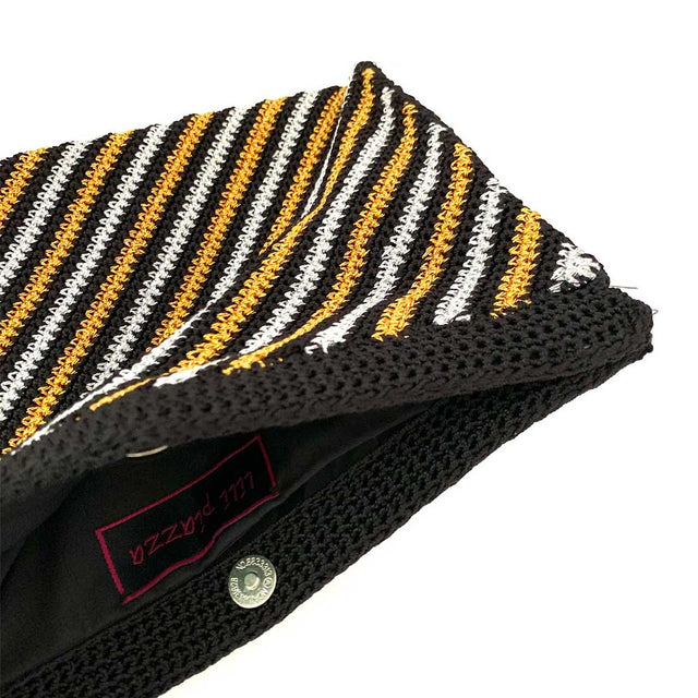 Black and Gold Crochet Clutch
