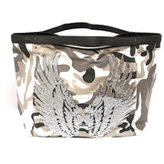 "TOTE Bag ""Angel Silver Wings"" Camo Gray"