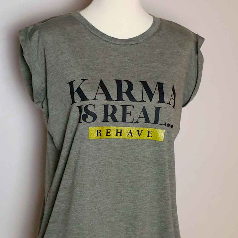T Shirt Relax Fit Karma Olive green