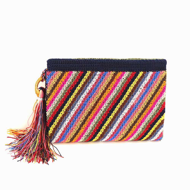 Crochet Clutch Multi Color