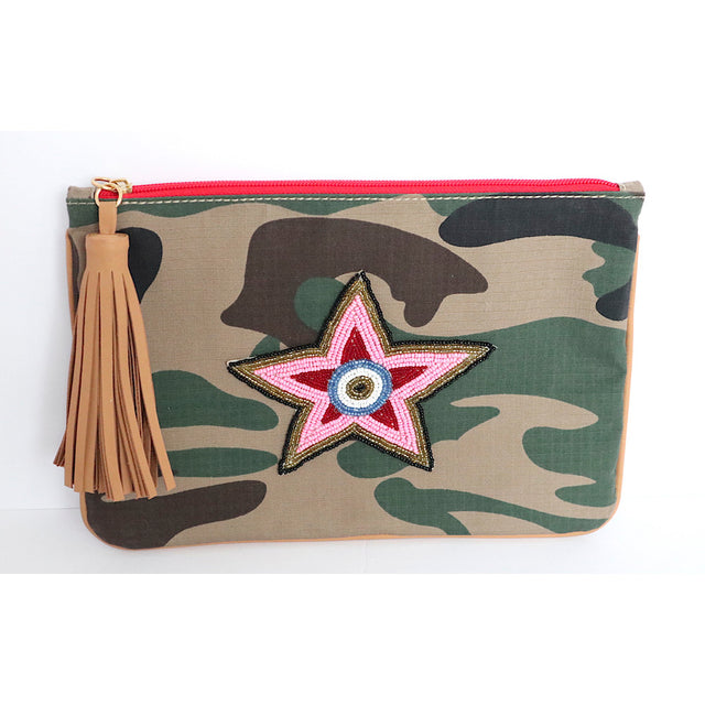 Camo Star Small Clutch