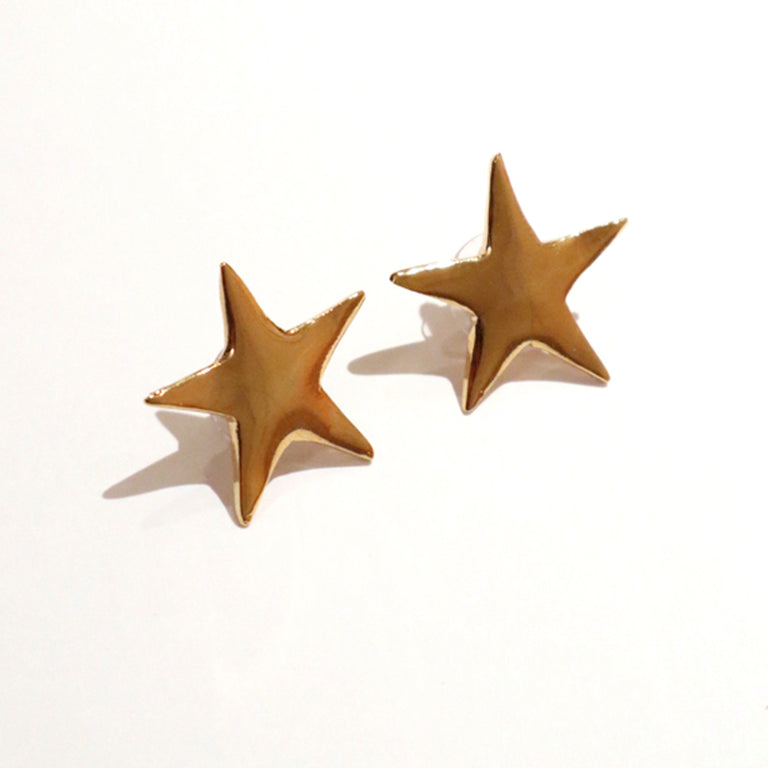 Small Gold Plated Star Earrings