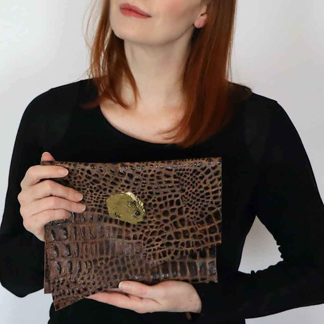 Alligator Leather Clutch