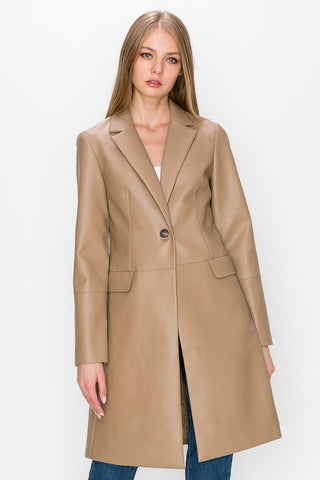 Coco Leather Trench Coat