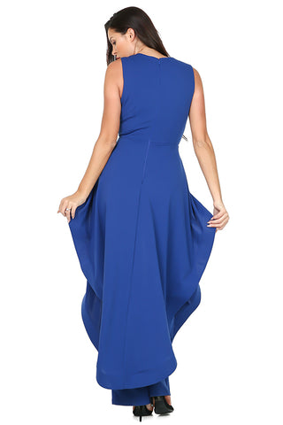 Jumpsuit, Hi-Low Ruffle Royal Blue