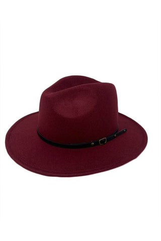 Burgundy Winter Fedora-
