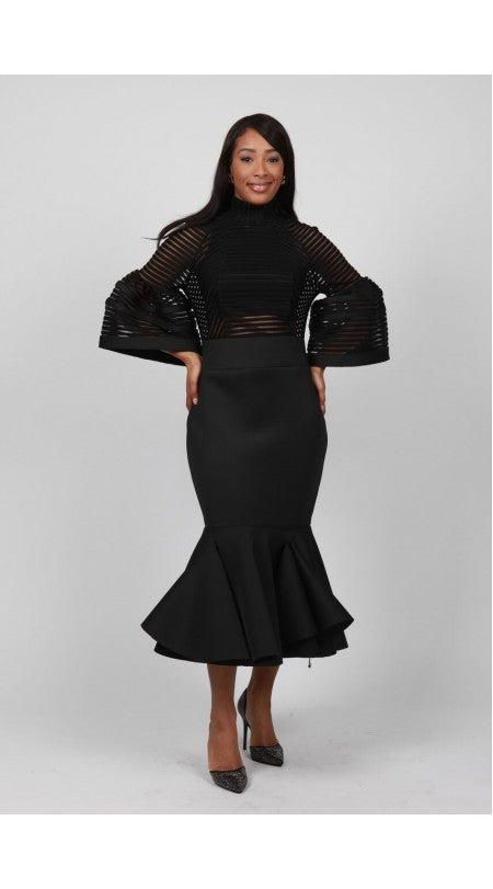 Black Dress with Bell Sleeves= SOLD OUT!